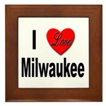 I Love Milwaukee Wisconsin Framed Tile