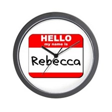 Hello my name is Rebecca Wall Clock