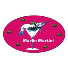 Marlin Martini Oval Decal