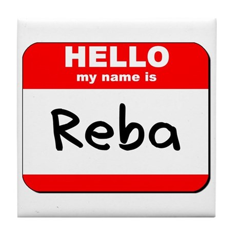 Hello my name is Reba Tile Coaster