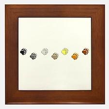 BEAR PRIDE PAWS/REVERSE Framed Tile