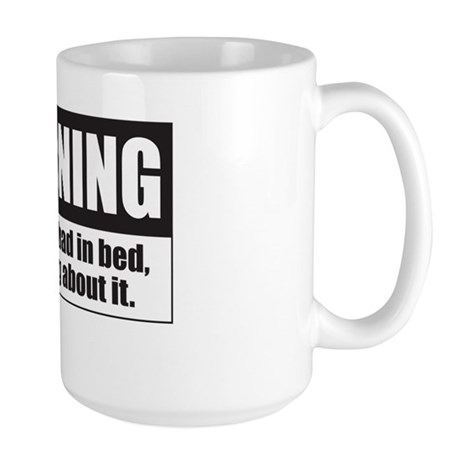 Bad In Bed Large Mug