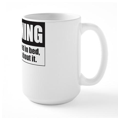 Bad In Bed Large Mug