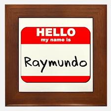 Hello my name is Raymundo Framed Tile