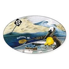 Pelican Oval Decal