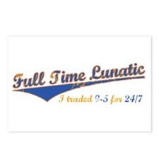 Full Time Lunatic Postcards (Package of 8)