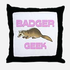 Badger Geek Throw Pillow