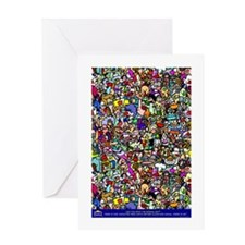 Find the normal guy Greeting Card