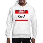 Hello my name is Raul Hooded Sweatshirt