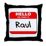 Hello my name is Raul Throw Pillow