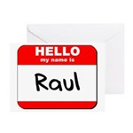 Hello my name is Raul Greeting Cards (Pk of 20)