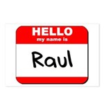 Hello my name is Raul Postcards (Package of 8)