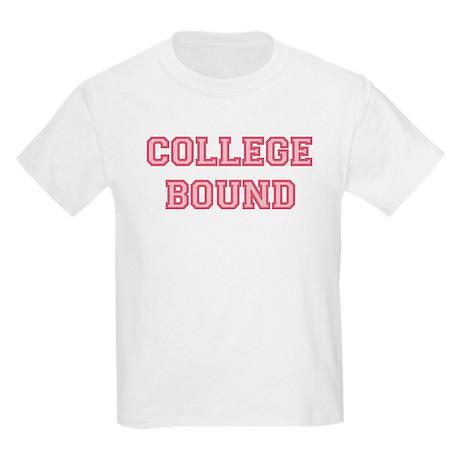 College Bound Kids Light T-Shirt Pink Lettering