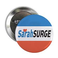 """Sarah Palin Surge 2.25"""" Button"""