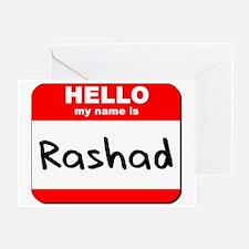 Hello my name is Rashad Greeting Card