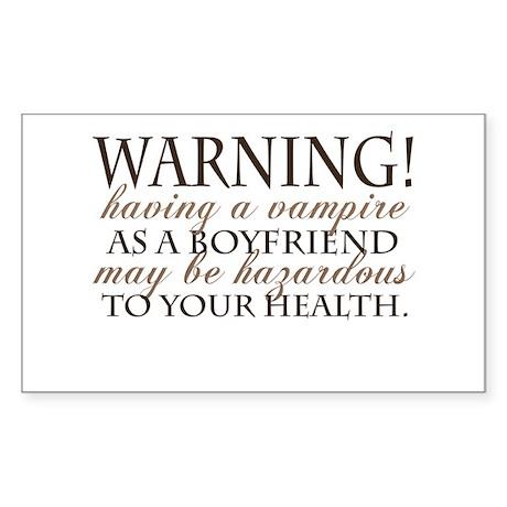 Warning! Rectangle Sticker