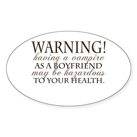 Warning! Oval Sticker
