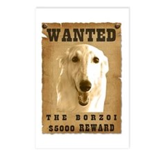 """""""Wanted"""" Borzoi Postcards (Package of 8)"""