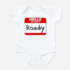Hello my name is Randy Infant Bodysuit