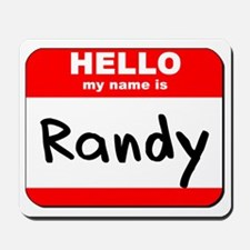 Hello my name is Randy Mousepad