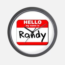 Hello my name is Randy Wall Clock