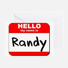 Hello my name is Randy Greeting Card