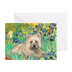 Irises/Cairn #4 Greeting Card