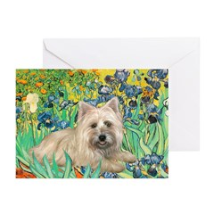 Irises/Cairn #4 Greeting Cards (Pk of 10)