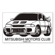 Mitsubishi Motors Club Rectangle Decal