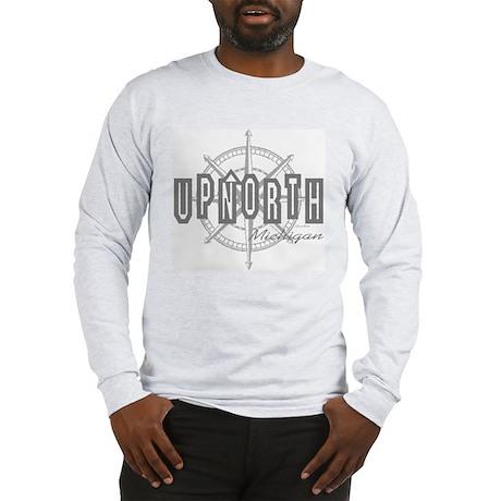 Up North Michigan Grey Long Sleeve T-Shirt