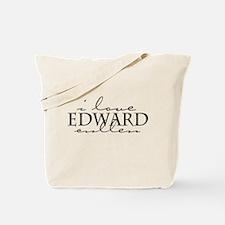 I Love Edward Cullen - black Tote Bag