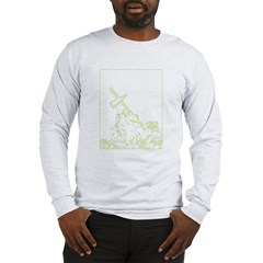 marine cross - iwo jima Long Sleeve T-Shirt