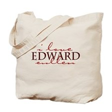 I Love Edward Cullen - red Tote Bag