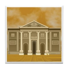 King Solomon's Temple Tile Coaster