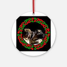 mastiff Pair Ornament (Round)