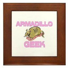 Armadillo Geek Framed Tile