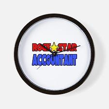 """Rock Star Accountant"" Wall Clock"