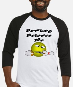 Angry Smiley Face Bowler Baseball Jersey