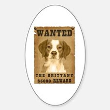 """Wanted"" Brittany Oval Decal"