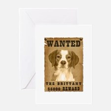"""""""Wanted"""" Brittany Greeting Card"""