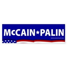 McCain-Palin Stars+Stripes Bumper Bumper Sticker