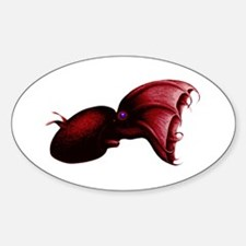 Vampire Squid Oval Decal