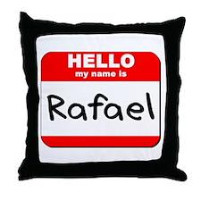 Hello my name is Rafael Throw Pillow