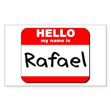 Hello my name is Rafael Rectangle Sticker