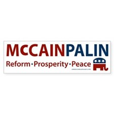 McCain Palin Elephant Bumper Bumper Sticker