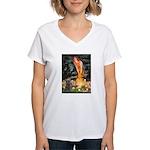Midsummer/Cairn (brin) Women's V-Neck T-Shirt