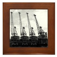 Framed Tile - Bristol Dock Cranes