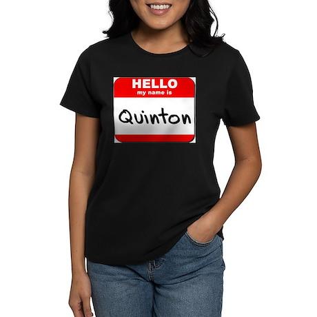 Hello my name is Quinton Women's Dark T-Shirt
