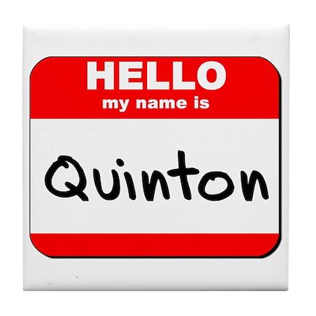 Hello my name is Quinton Tile Coaster