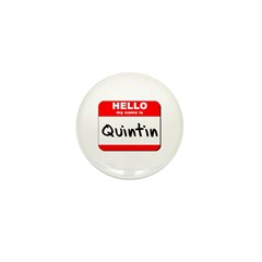 Hello my name is Quintin Mini Button (10 pack)
